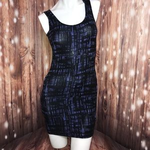 Forever 21 • Black Purple Bodycon Dress Small